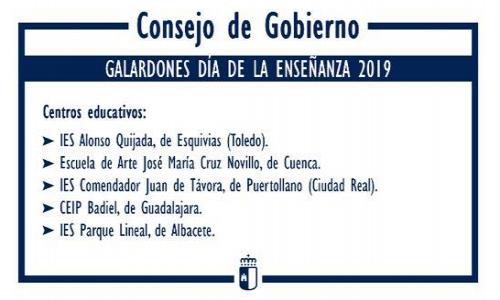 GALARDÓN DÍA DE LA ENSEÑANZA 2019